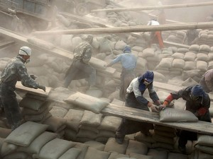 Worker Working In Cement Industry Image
