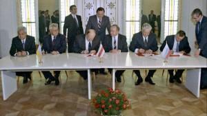Момент подписания Беловежских соглашений