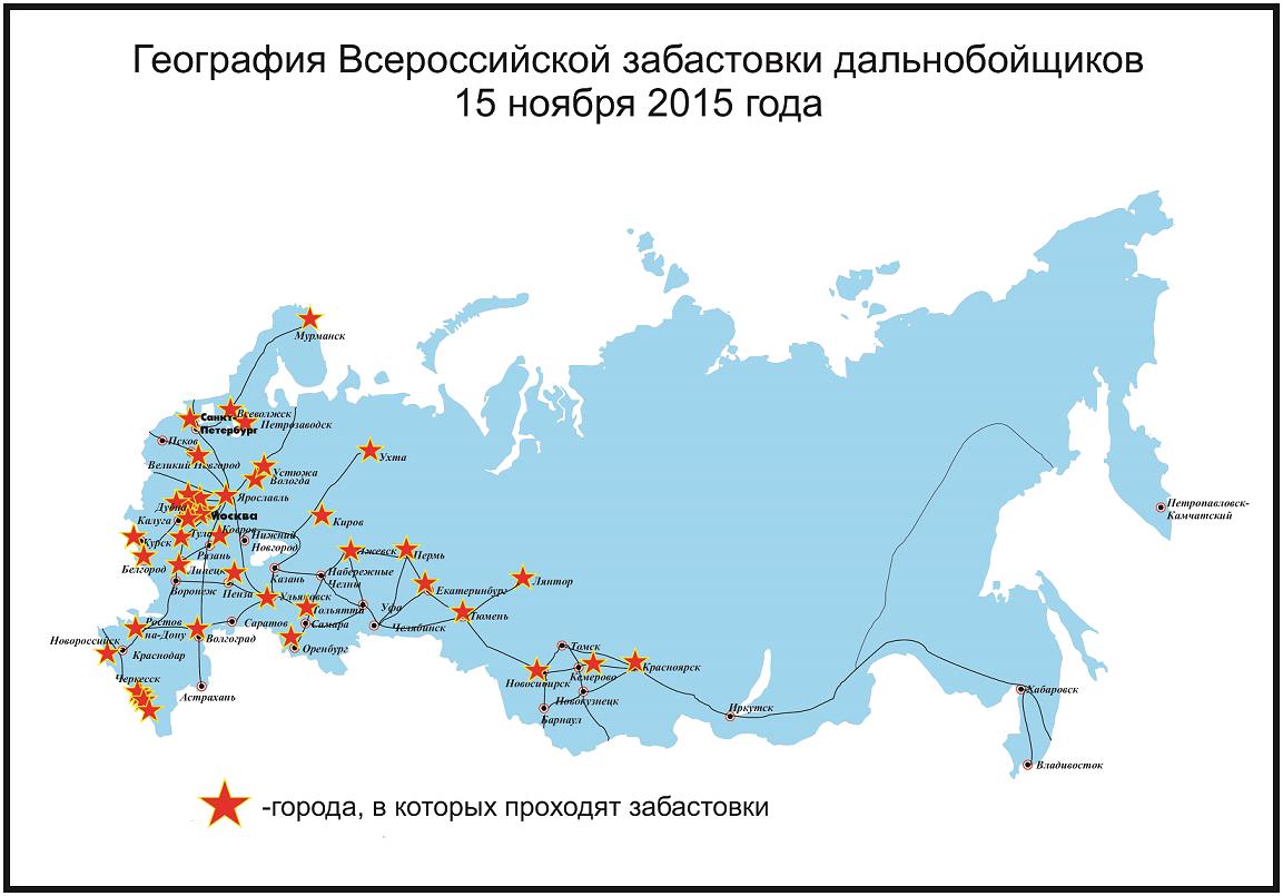 Карта протеста