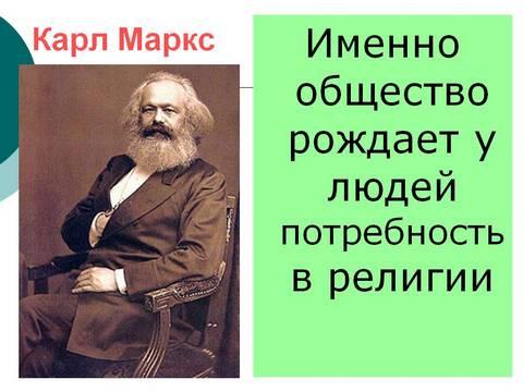 Маркс и религия
