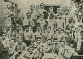 Участники Горловского восстания 1905 года в тюрьме (снимок 1907 г.)