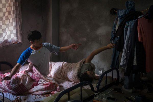 Спальня рабочих на небольшой майнинг-ферме (Китай)