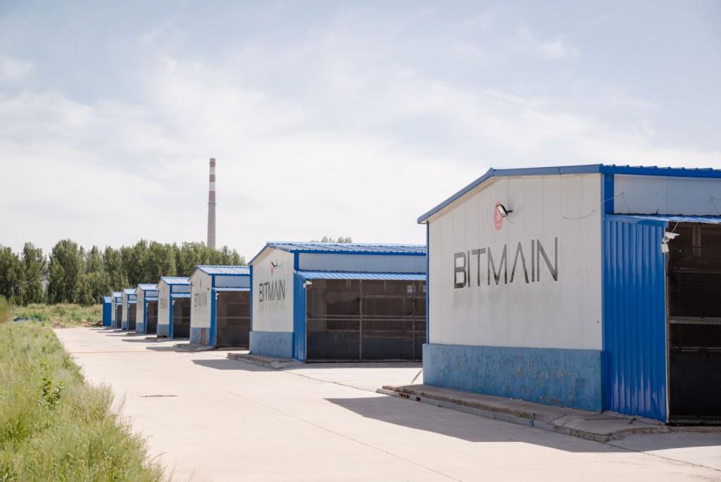 Майнинг ферма Bitmain. Вид снаружи