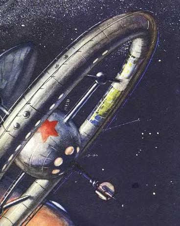Рис. 40. Проект советской космической биологической станции. 1950 г.