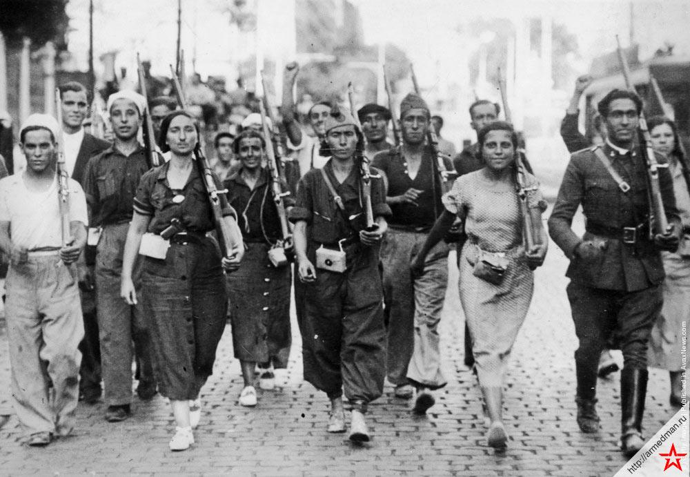 Республиканское ополчение, июль 1936 г.