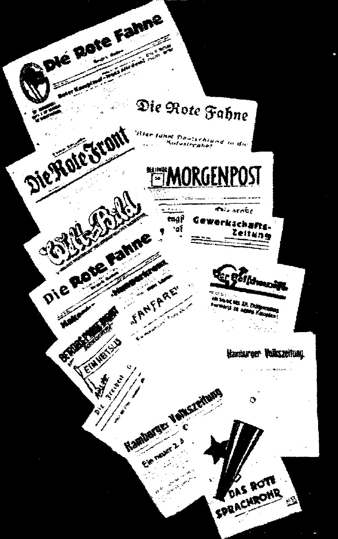 Нелегальные газеты КПГ 1933-1936 гг.