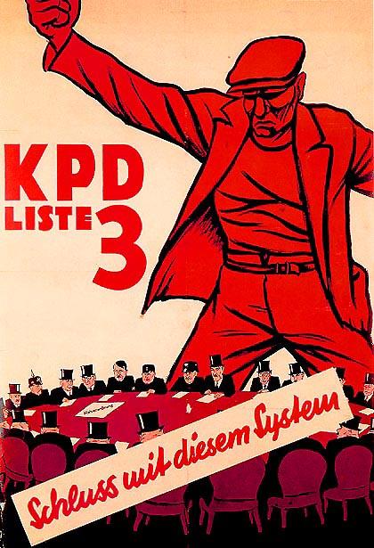 """Плакат КПГ """"Покончим с этой системой"""""""