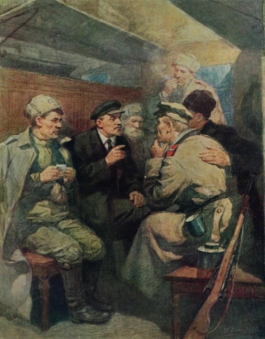 по дороге в питер 1917
